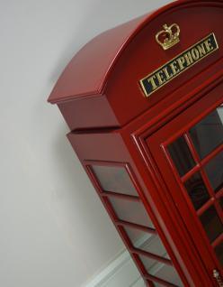 Englische Telefonzelle Deko Vitrine Schrank - Vorschau 4