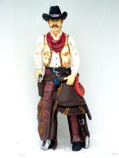 Cowboy Figur Statue Aufstellfigur Lebensgroß