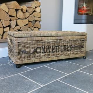 rattankorb w schekorb allzweckkorb korb couvertures natur. Black Bedroom Furniture Sets. Home Design Ideas