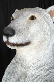 Riesen Eisbär Dekofigur Lebensgroß Bärn Figur - Vorschau 2