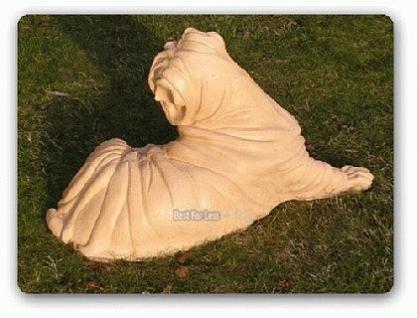 Chinesische Faltenhunde Dekofigur Tierfigur Statue - Vorschau 2