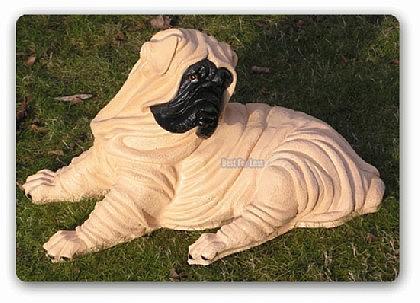 Chinesische Faltenhunde Dekofigur Tierfigur Statue - Vorschau 1