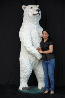 Riesen Eisbär Dekofigur Lebensgroß Bärn Figur - Vorschau 1