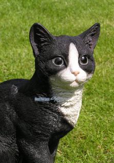 Katze in schwarz weiß als Dekofigur - Vorschau 3