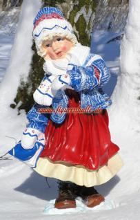 Mädchen Winterdekoration Advents Deko Figur Deko - Vorschau 1