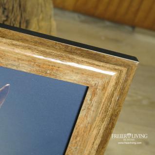 Pferdekopf Wandbild in braunem Holz Bilderrahmen - Vorschau 3