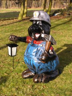 Maulwurf mit Laterne Gartenfigur Dekofigur Figur - Vorschau 1
