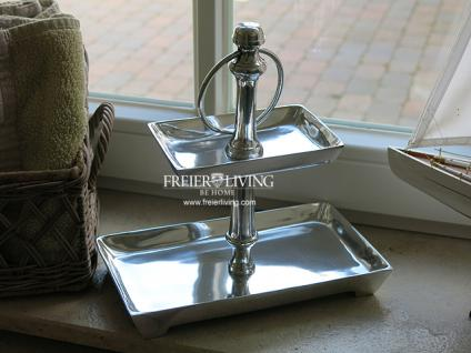 Tisch Etagere Bad Wc Aluminium Deko Home Interiors Landhausstil - Vorschau 1