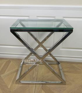 beistelltisch chrom glas