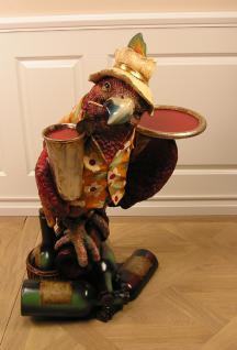 Hawaii Papagei Butler Beachparty Bar Kneipe Deko Figur Statue - Vorschau 3