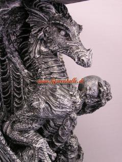 Drachen Drachentisch Wohnzimmertisch Couchtisch Beistelltisch Figur Statue - Vorschau 2