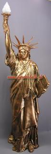 Freiheitsstatue Liberty Figur Lampe Stein optik