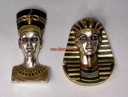 Deko Tutanchamun und Nofretete im 2er Set Figur Statue Skulptur