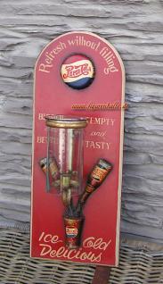 Pepsi Cola Kerzenwandhalter Werbung Schild Deko Antik Nostalgie