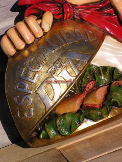 Koch als Wand Werbefigur und Deko Restaurant Imbiss - Vorschau 3