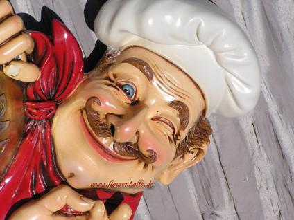Koch als Wand Werbefigur und Deko Restaurant Imbiss - Vorschau 2