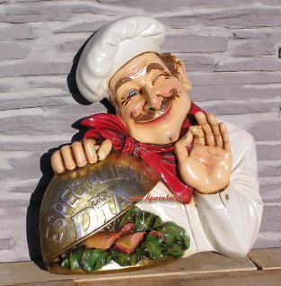 Koch als Wand Werbefigur und Deko Restaurant Imbiss - Vorschau 1