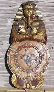 Tutanchamun Uhr Wanduhr Ägypten Ägyptische Statue Skulptur Deko