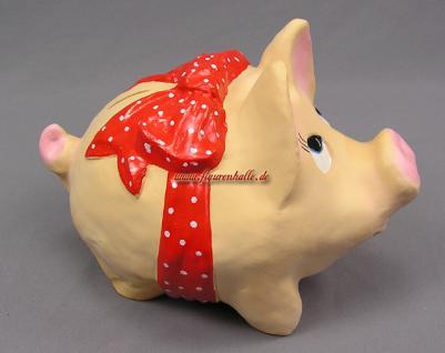 Dickes rundes Sparschwein mit lustiger Schleife - Vorschau 2