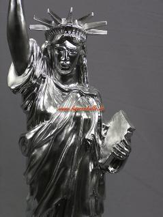 Freiheitsstatue Statue Of Liberty silber Chrom Lackierung Figur USA Deko - Vorschau 3