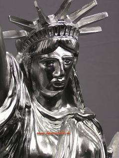 Freiheitsstatue Statue Of Liberty silber Chrom Lackierung Figur USA Deko - Vorschau 2
