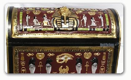 Ägyptische Truhe als Dekoration Figur Deko Möbel - Vorschau 2