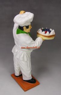 Bäcker Figur mit Tafel Werbung Bäckerei - Vorschau 3