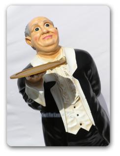 Butler als Aufstellfigur Werbefigur Statue - Vorschau 1