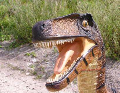 Velociraptor Rex Dino Park Figur Werbefigur Statue Skulptur Deko - Vorschau 2