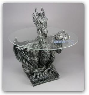 Drachentisch Dekofigur Drachen Figur Deko Tisch - Vorschau 1