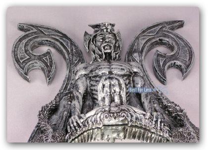 Dämonen Spiegel Gothic Möbel Dekoration Düster - Vorschau 2