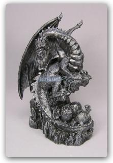 Drachen Aufstellfigur Düsterer Style Statue Deko