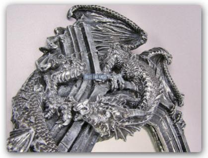 Drachen Spiegel im Gothic Style Figur Statue - Vorschau 2