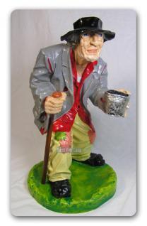 Bettler Figur als Garten- oder Hausdekoration