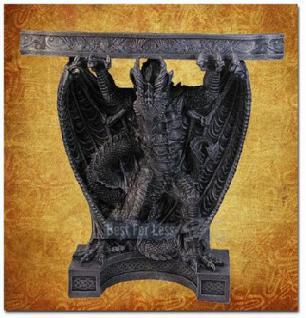 Drachen Tisch im Bord Style Figur Statue Möbel