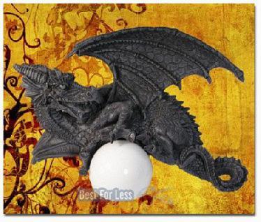Drachenlampe Drachenfigur Wandlampe Drachen Figur