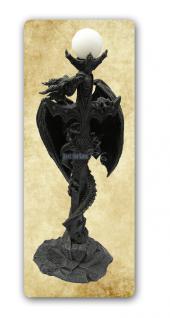 Drachen Stehlampe Lampe Figur Statue Deko