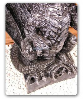 Drachenlampe Drachenleuchter Drachen Figur Deko - Vorschau 3