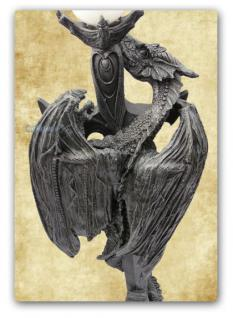 Drachen Stehlampe Lampe Figur Statue Deko - Vorschau 3