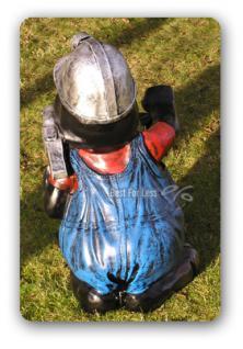 Maulwurf mit Laterne Gartenfigur Dekofigur - Vorschau 3