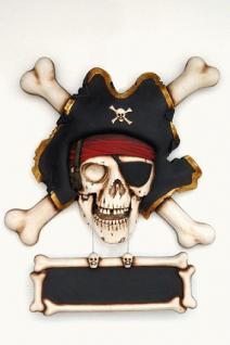 Pirat Dekofigur Seeräuber Wanddeko