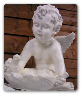 Engel Engelchen Vogeltränke Dekofigur Gartenfigur - Vorschau 1