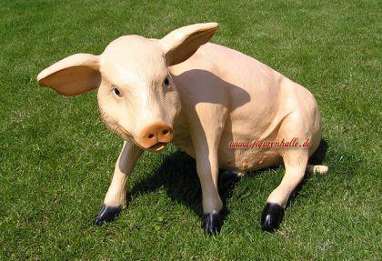 Schwein Lebensgroß Figur Skulptur Bauernhof Tier