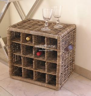 rattan weinregal regal flaschen tischregal halter rattankorb deko kaufen bei helga freier. Black Bedroom Furniture Sets. Home Design Ideas