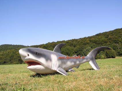 Hai Haifisch Fisch Figur Statue Skulptur Deko Dekoration Shark Groß