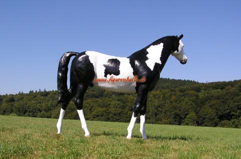 Pferd Westernpferd Quarter horses Figur Lebensgroß Statue geflecktes - Vorschau 4