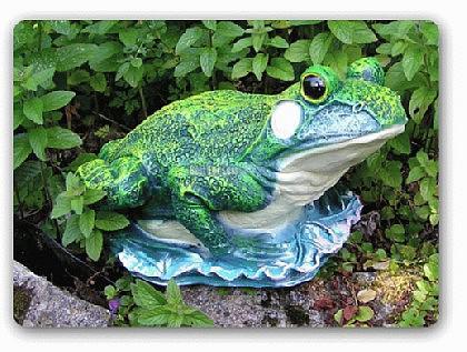 Frosch als Dekofigur für Garten und Gartenteich - Vorschau 1