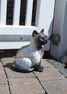 Siam Katze Figur Dekofigur Gartenfigur Tierfigur - Vorschau 2
