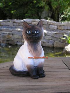 Siam Katze Figur Dekofigur Gartenfigur Tierfigur - Vorschau 1