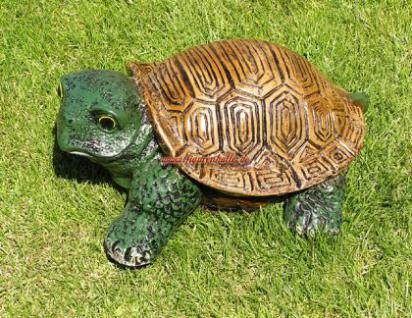 Lustige Gartenschildkröte Schildkröte Deko Garten - Vorschau 1